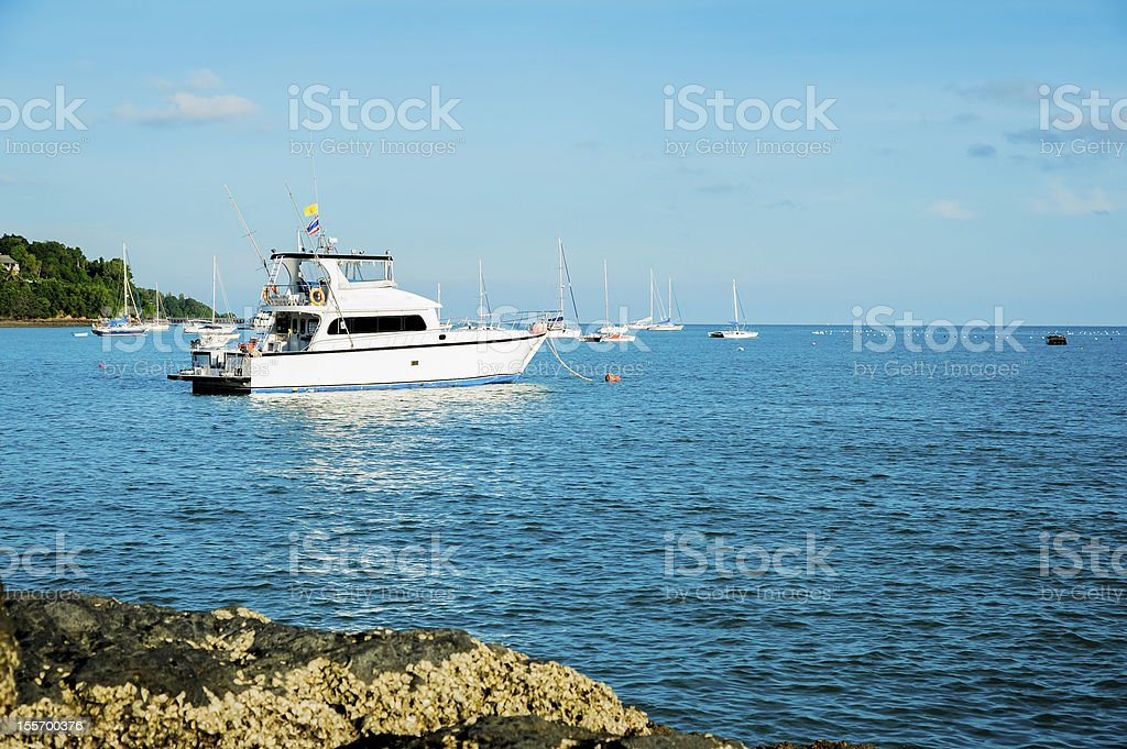 yachts on the beach royalty-free stock photo