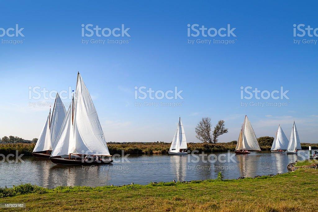 Yachts on the Bure stock photo