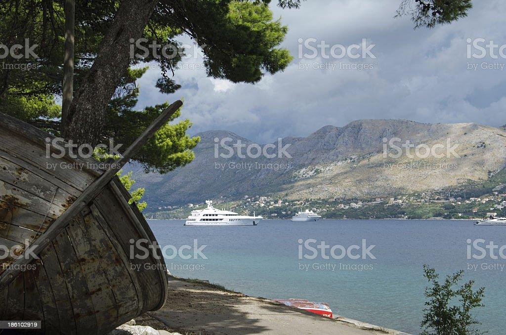 yachts stock photo