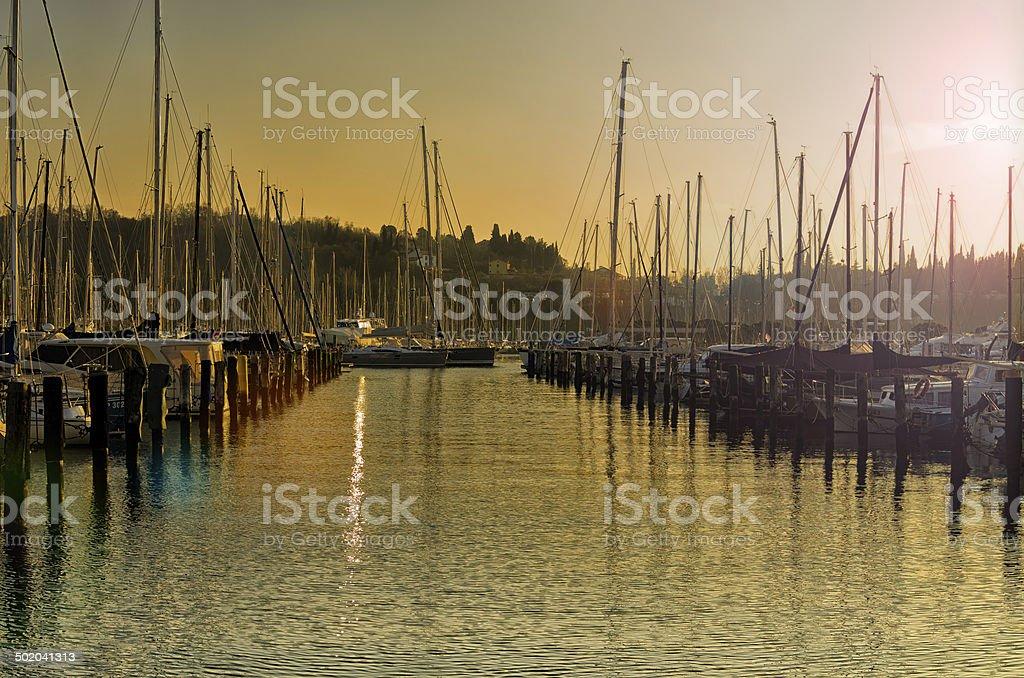 Yacht's royalty-free stock photo