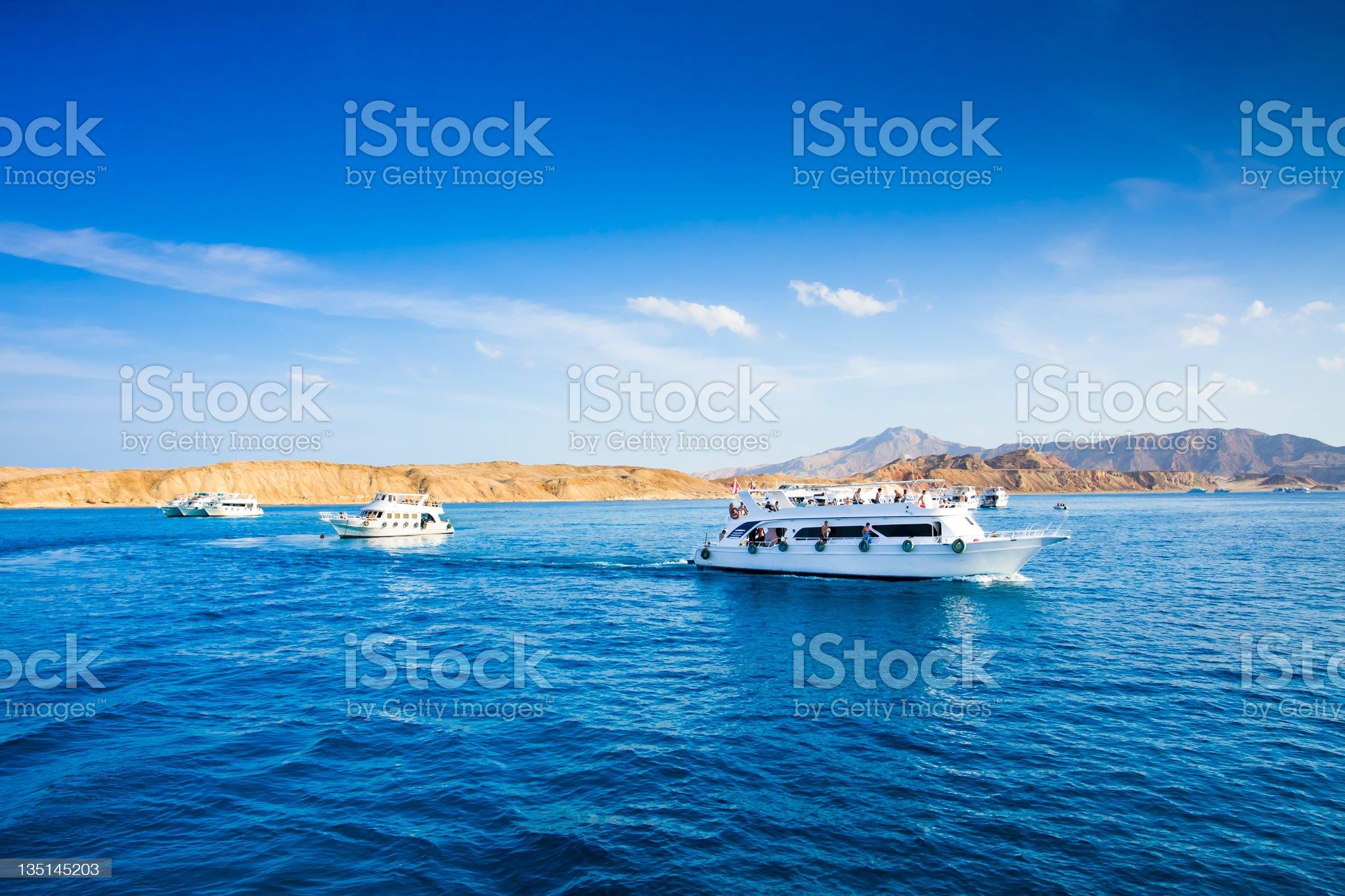 yachts sailing royalty-free stock photo