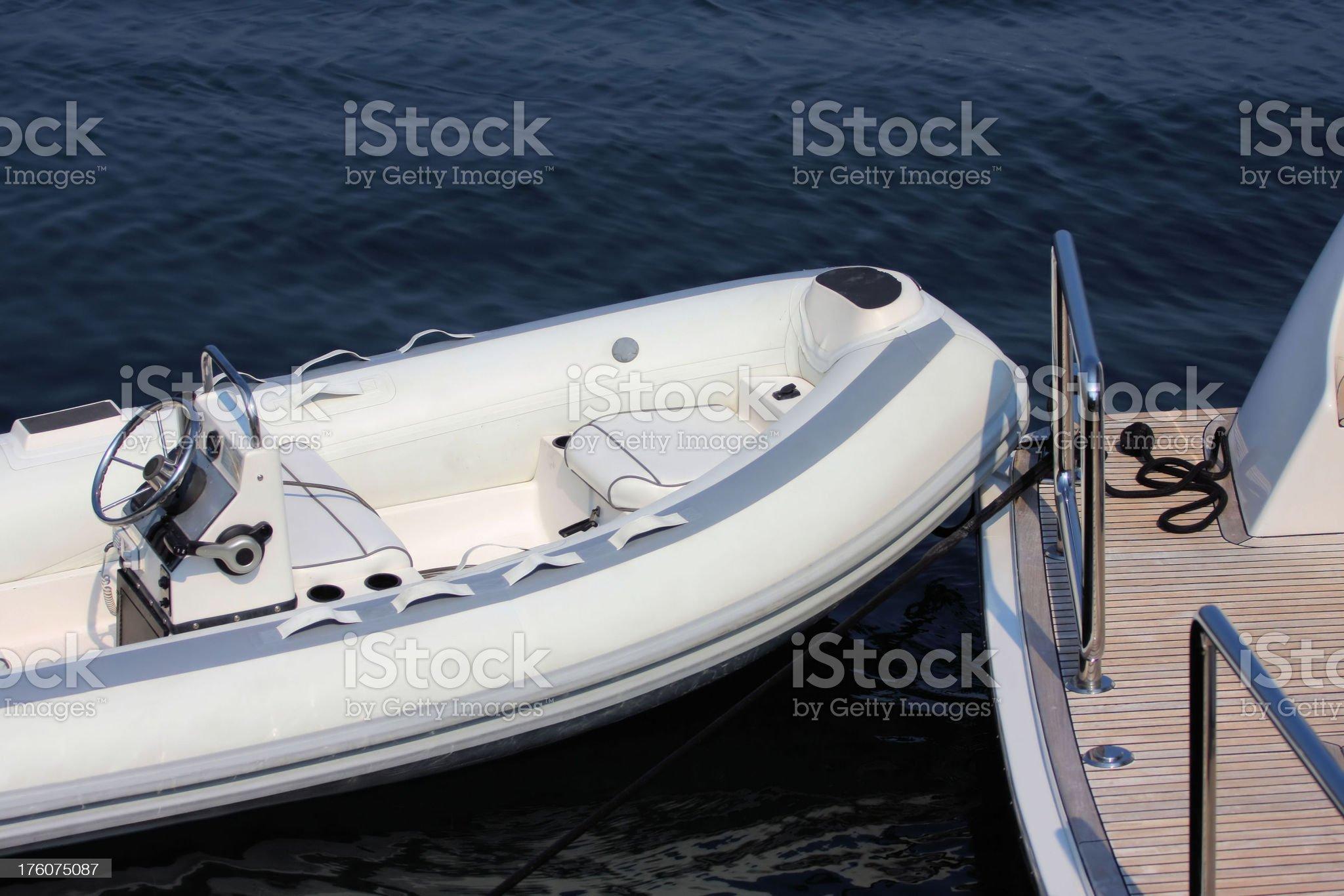 Yachts Tender royalty-free stock photo