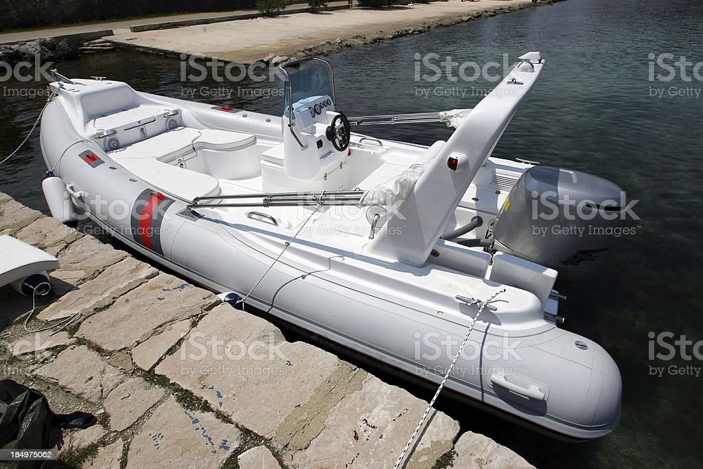 Yachts tender royalty-free stock photo