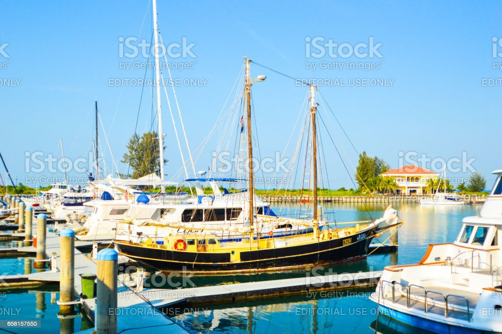 Yacth with the blue sky. stock photo
