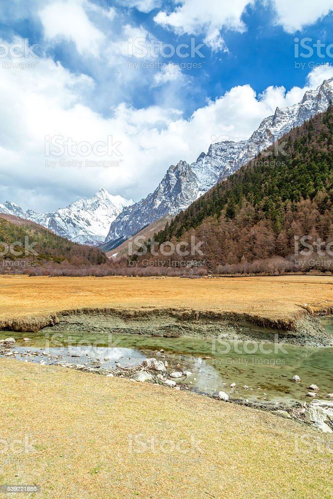 Yading national level reserve in Daocheng, Sichuan Province, Chi stock photo