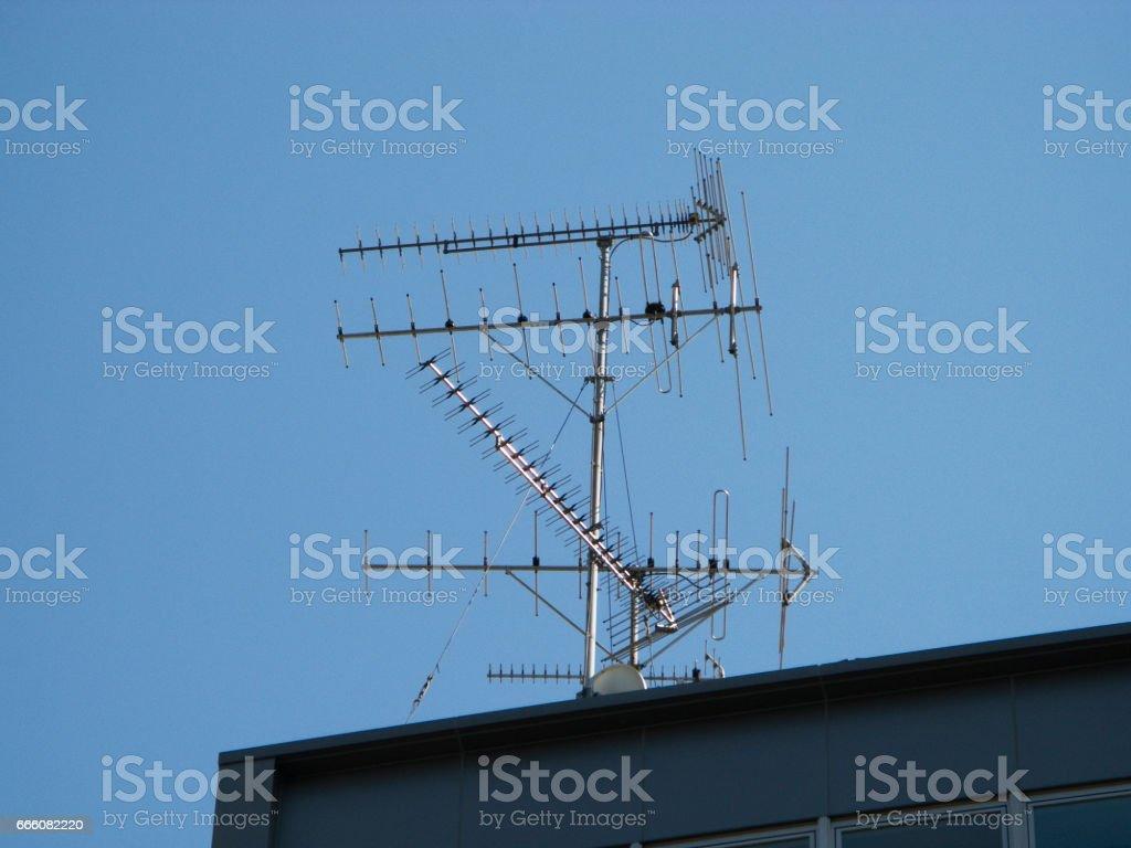 Yagi antenna stock photo