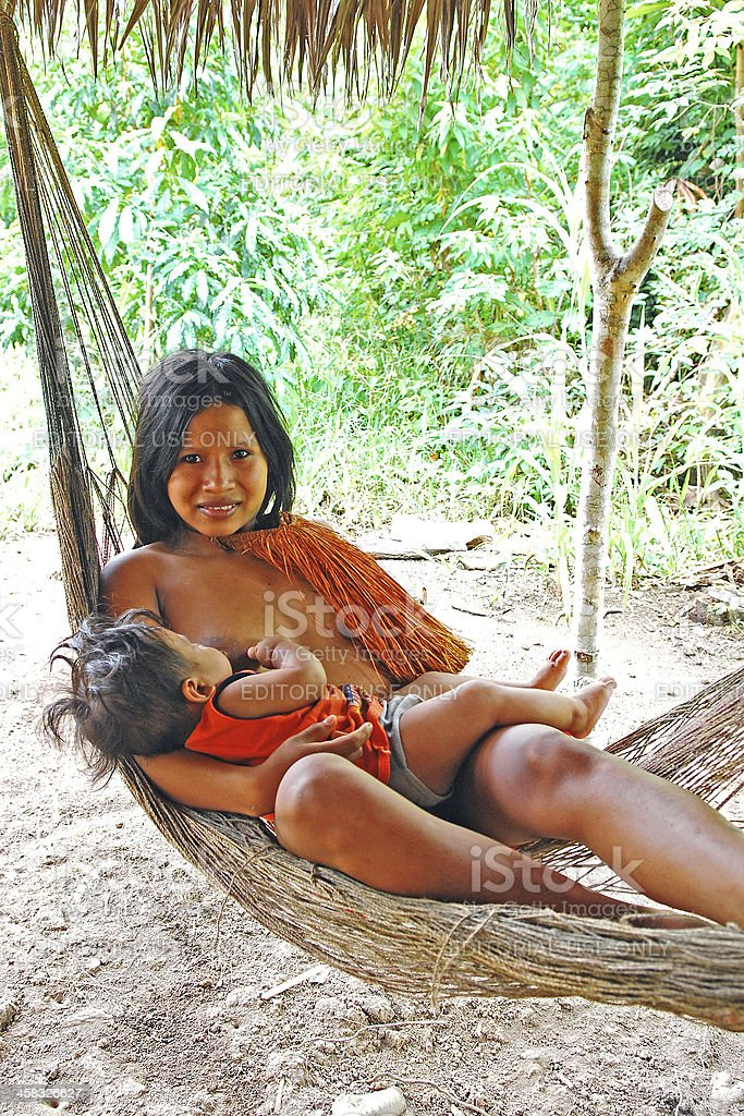 Yagua mama stock photo