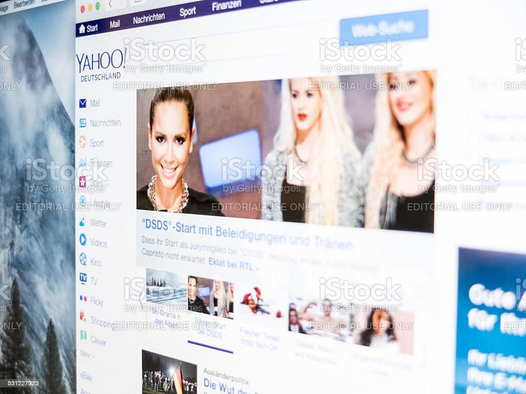 Yahoo browser stock photo