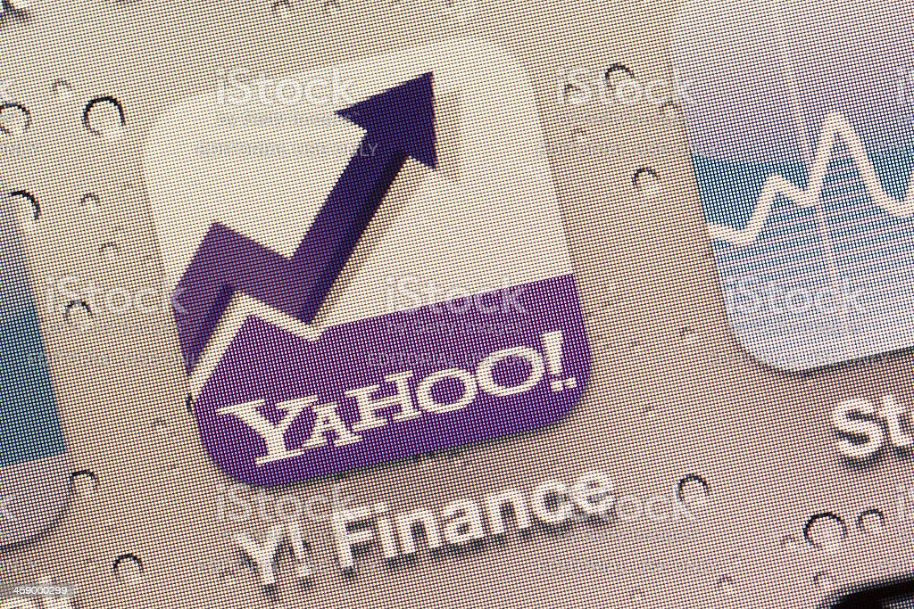 Yahoo! Finance App stock photo