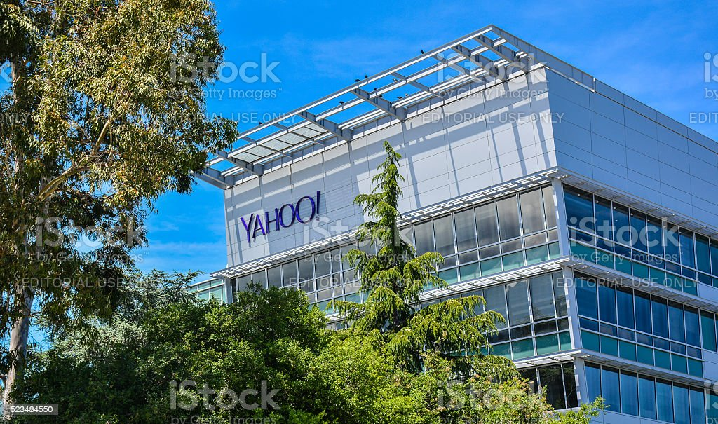 Yahoo Inc. Building, Sunnyvale, CA stock photo