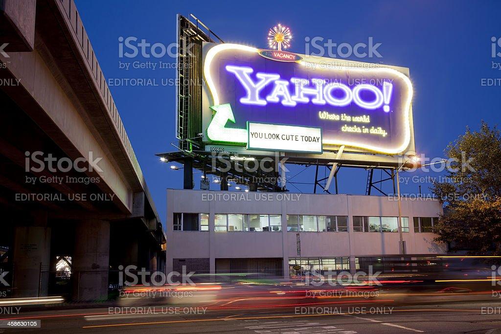 Yahoo INC! Neon Sign stock photo