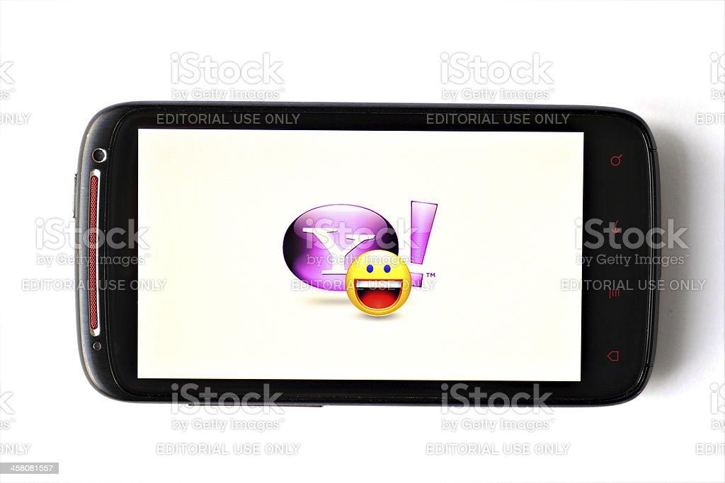 Yahoo Messenger phone stock photo