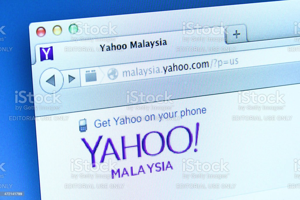 Yahoo Website stock photo