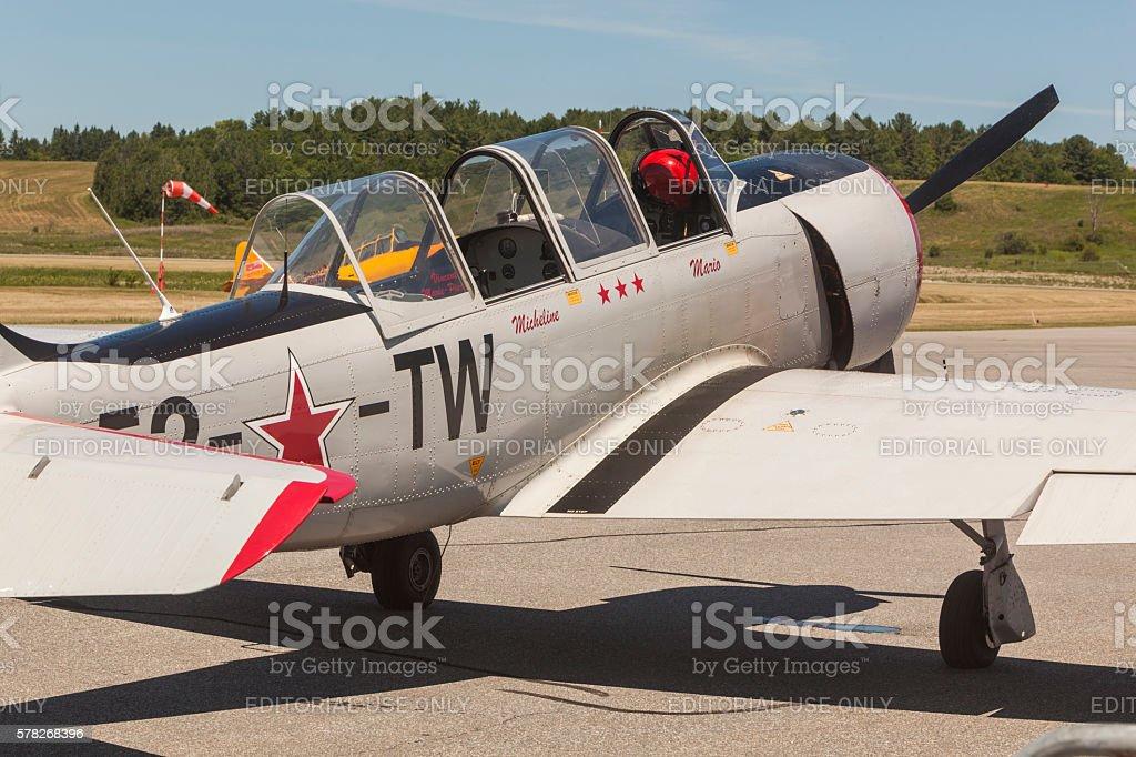 Yak 52 stock photo