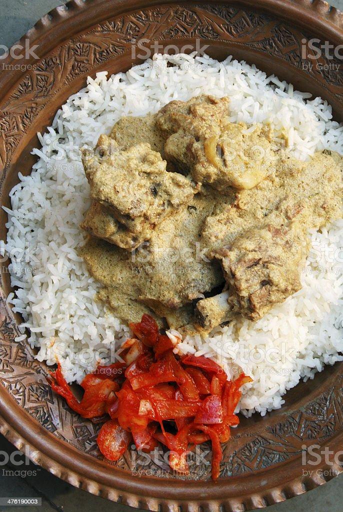 Yakhni kashmiri mutton curry stock photo