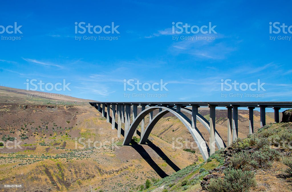 Yakima bridge stock photo