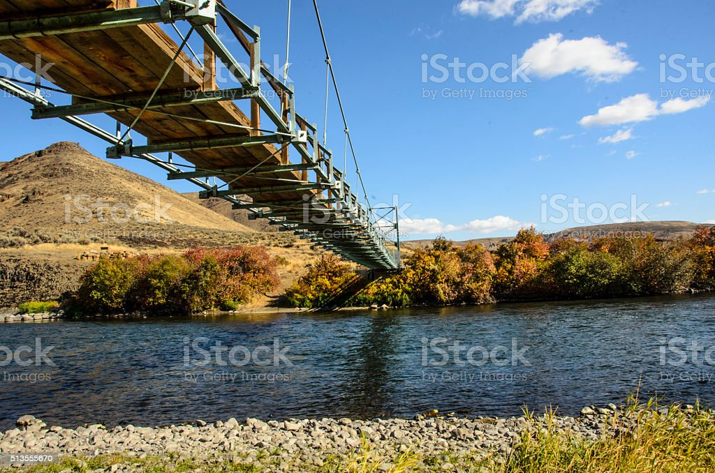 Yakima Canyon Foot Bridge stock photo