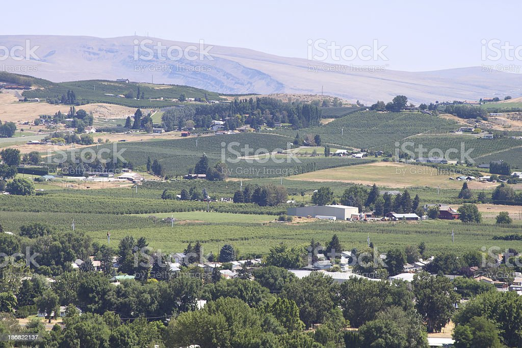 Yakima farmland stock photo