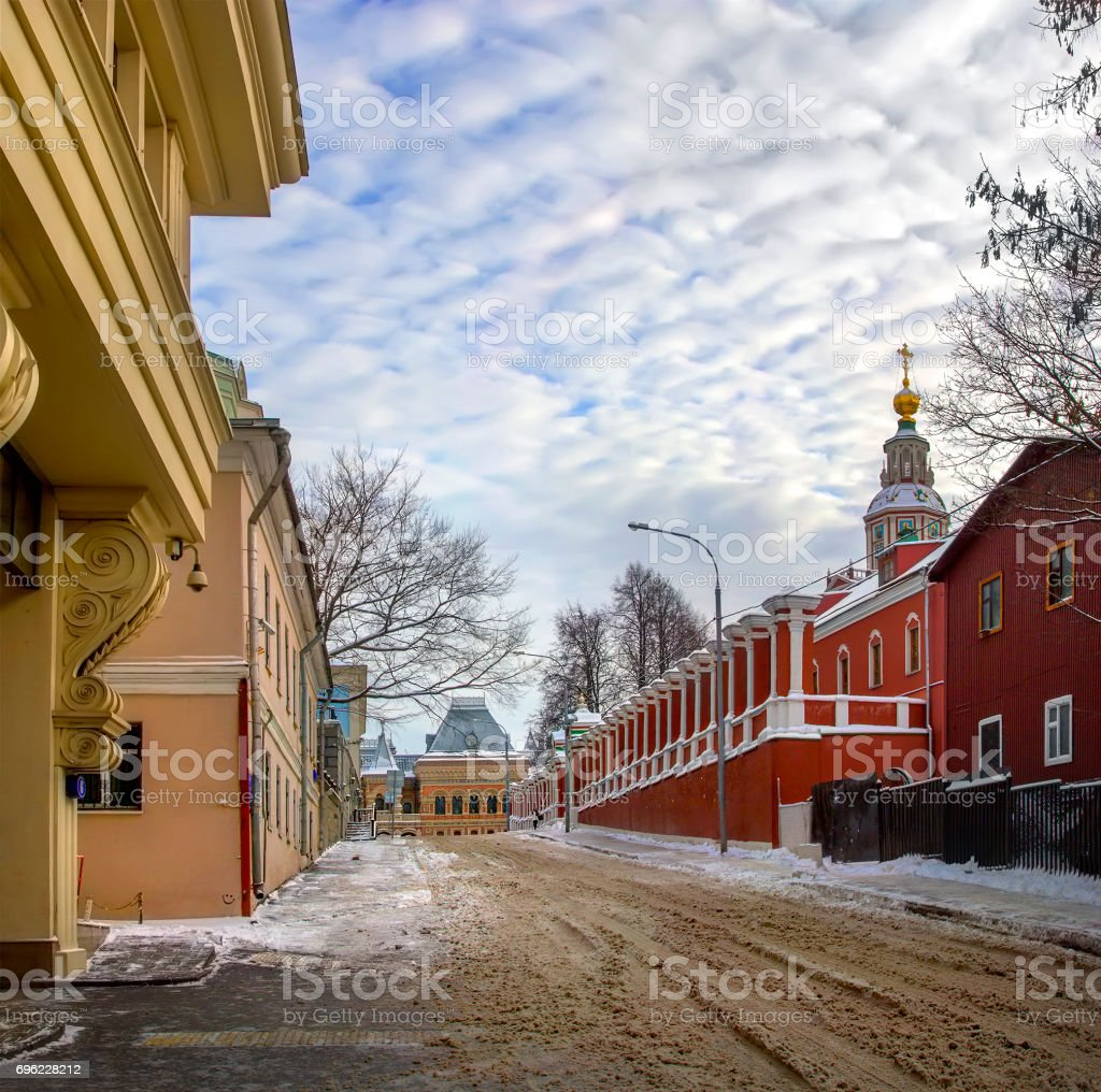Yakimansky lane. Moscow, Russia stock photo