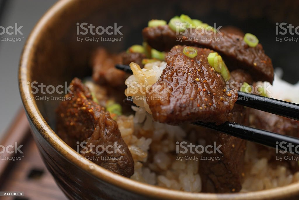 Yakiniku bowl stock photo