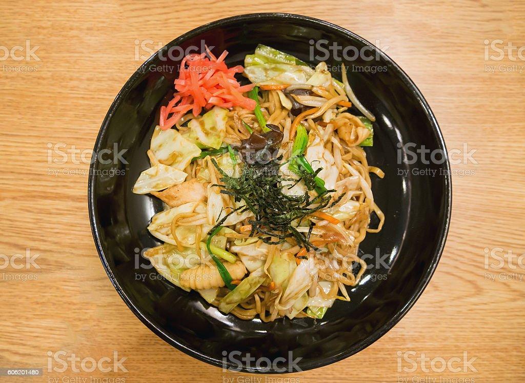 Yakisoba, japanese fried noodle stock photo