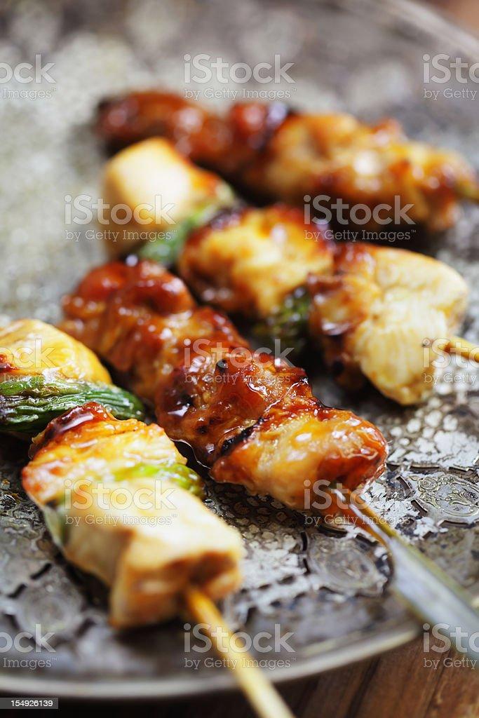 Yakitori with sauce royalty-free stock photo