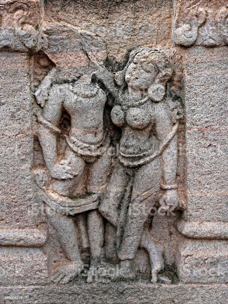 Yaksha & Yakshis Sanchi stock photo