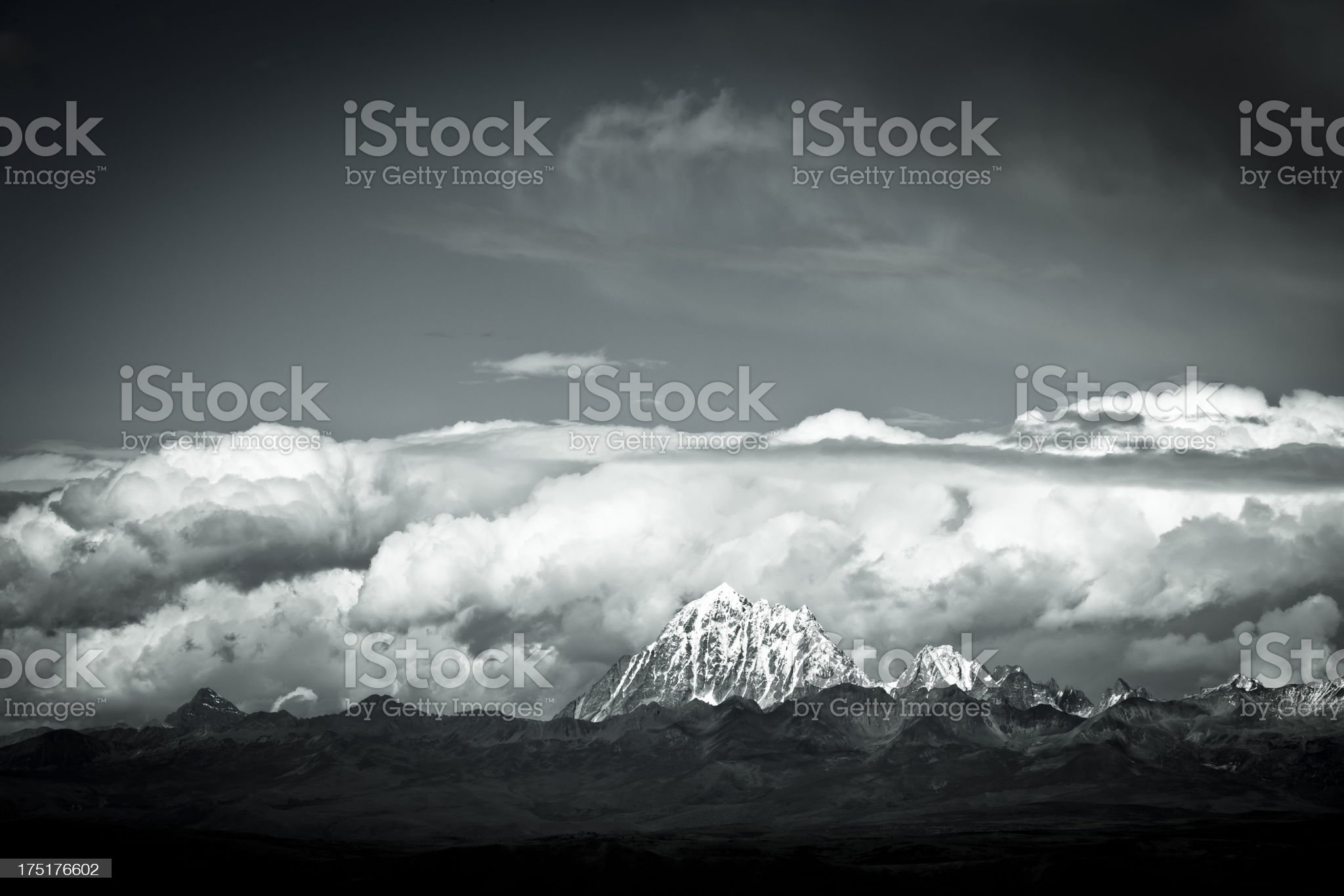 Yala Holy Mountain.Sichuan. royalty-free stock photo