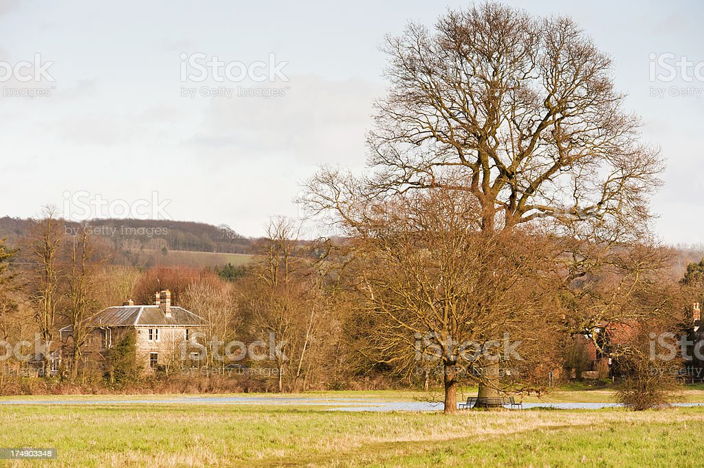 Yalding on a cold winter's day royalty-free stock photo