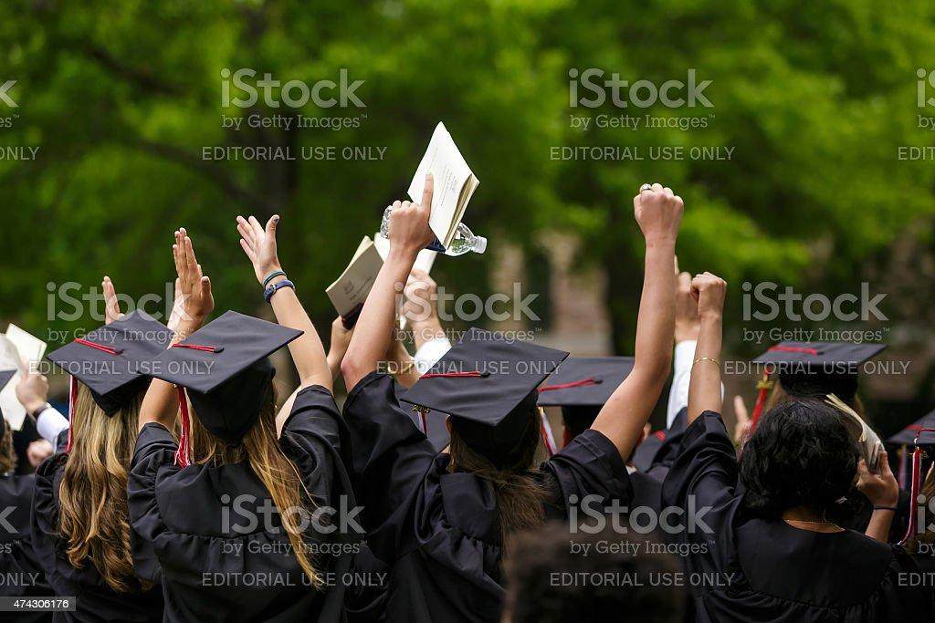 Yale University graduation ceremonies stock photo
