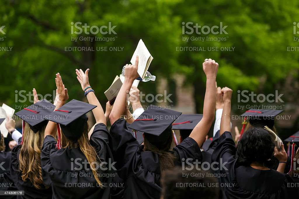 Yale University graduation ceremonies stock photo