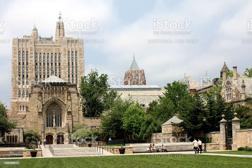Yale University Sterling Library stock photo