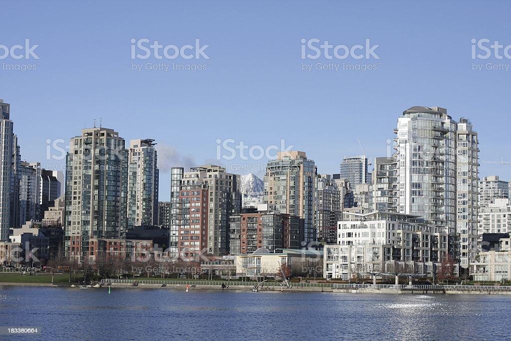 Yaletown Neighbourhood in Vancouver royalty-free stock photo