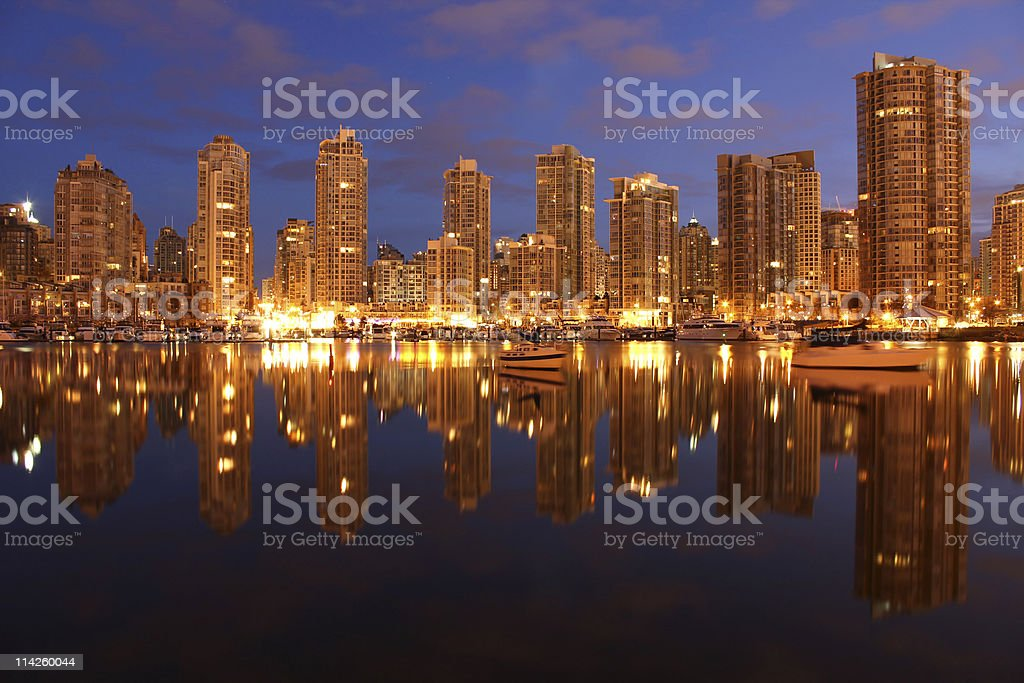 Yaletown Twilight Condominiums, Vancouver royalty-free stock photo