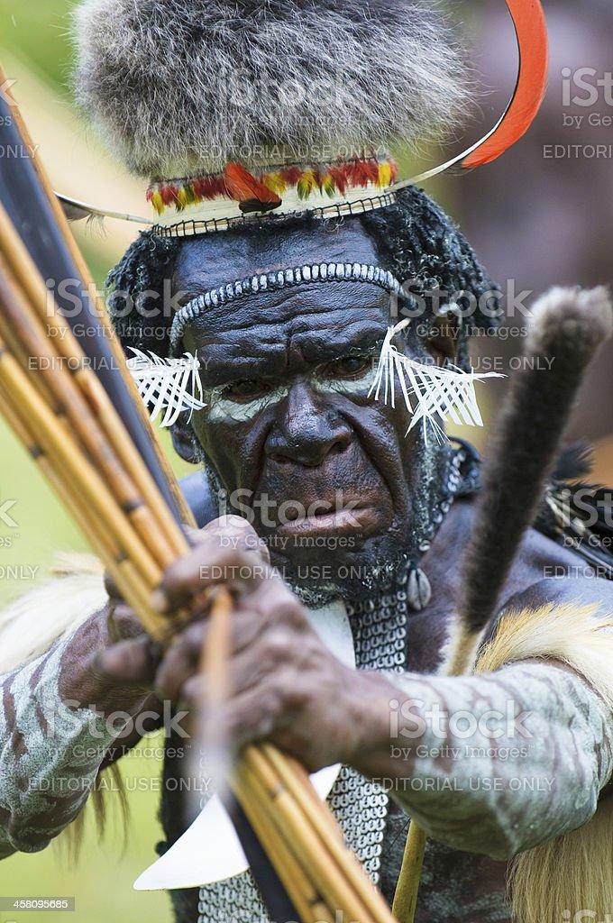 Yali Mabel, the chief of Dani tribe, Papua, Indonesia stock photo
