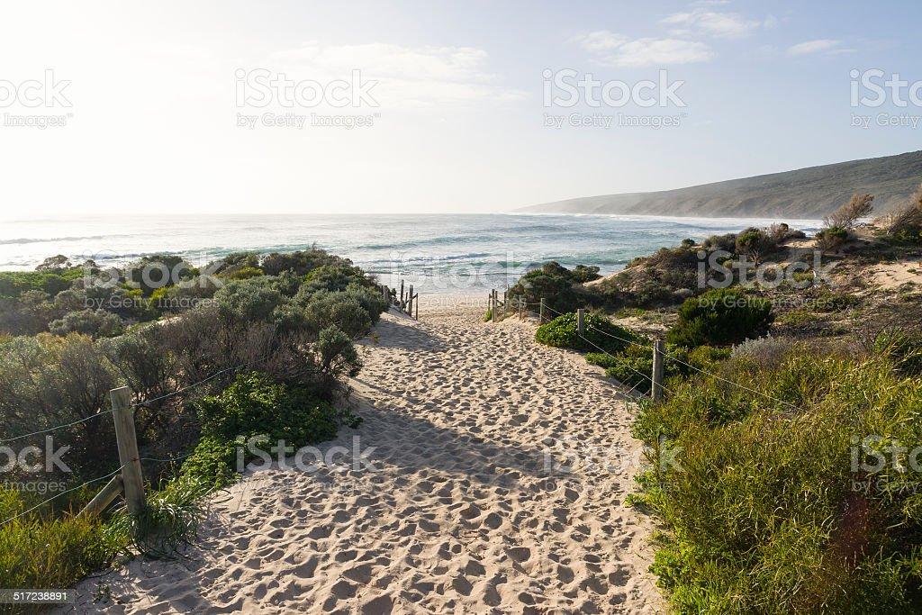 Yallingup Beach Path in Western Australia stock photo