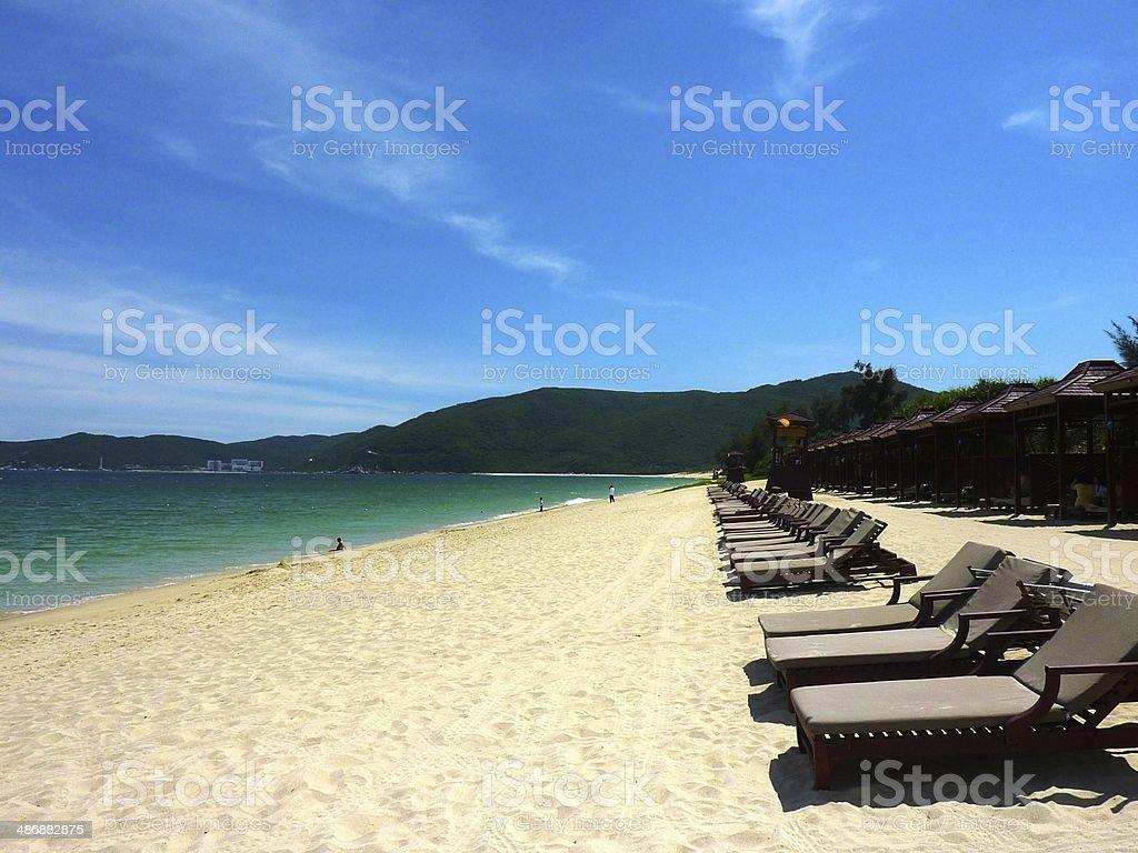 Yalong Bay Beach in Sanya, China royalty-free stock photo