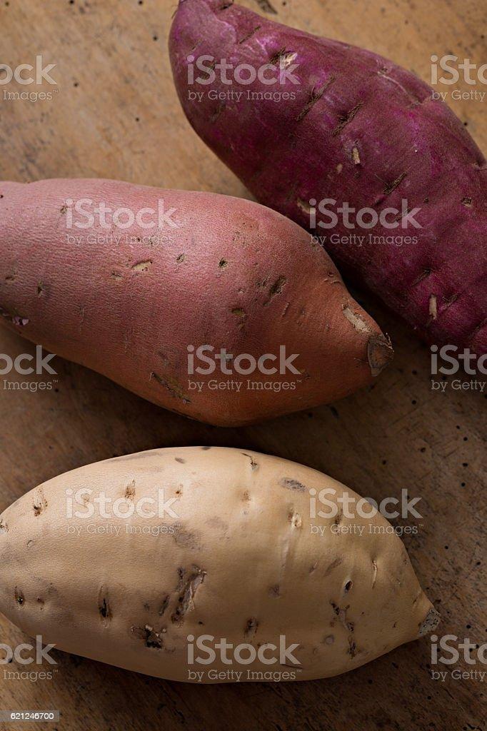 Yam, Sweet Potato, Oriental Yam stock photo