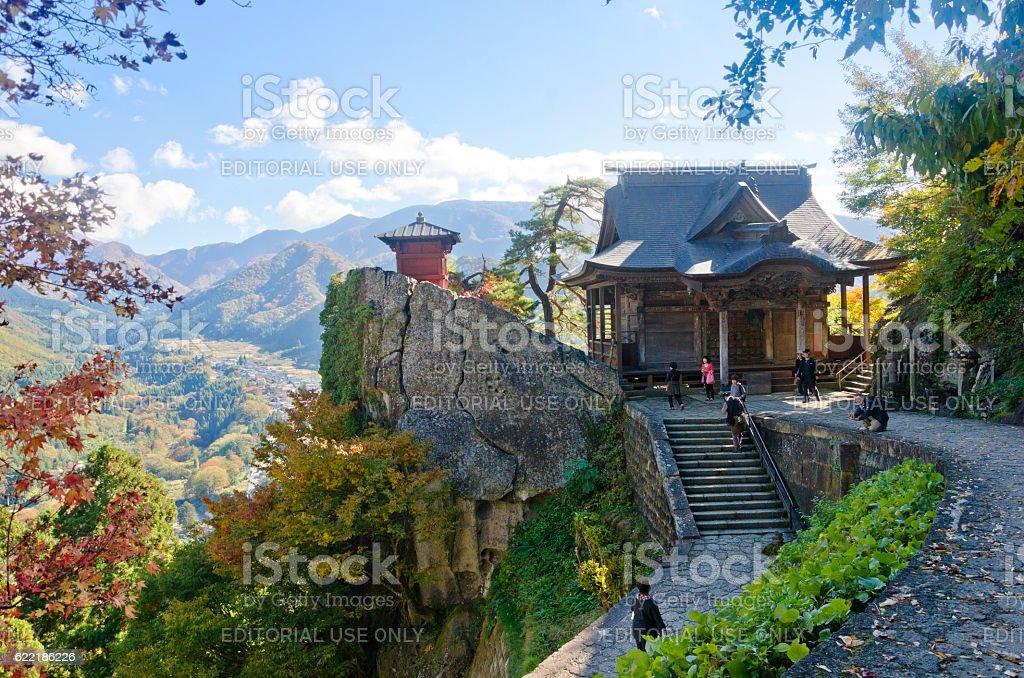 Yamadera Mountain temple of Yamagata, Japan stock photo