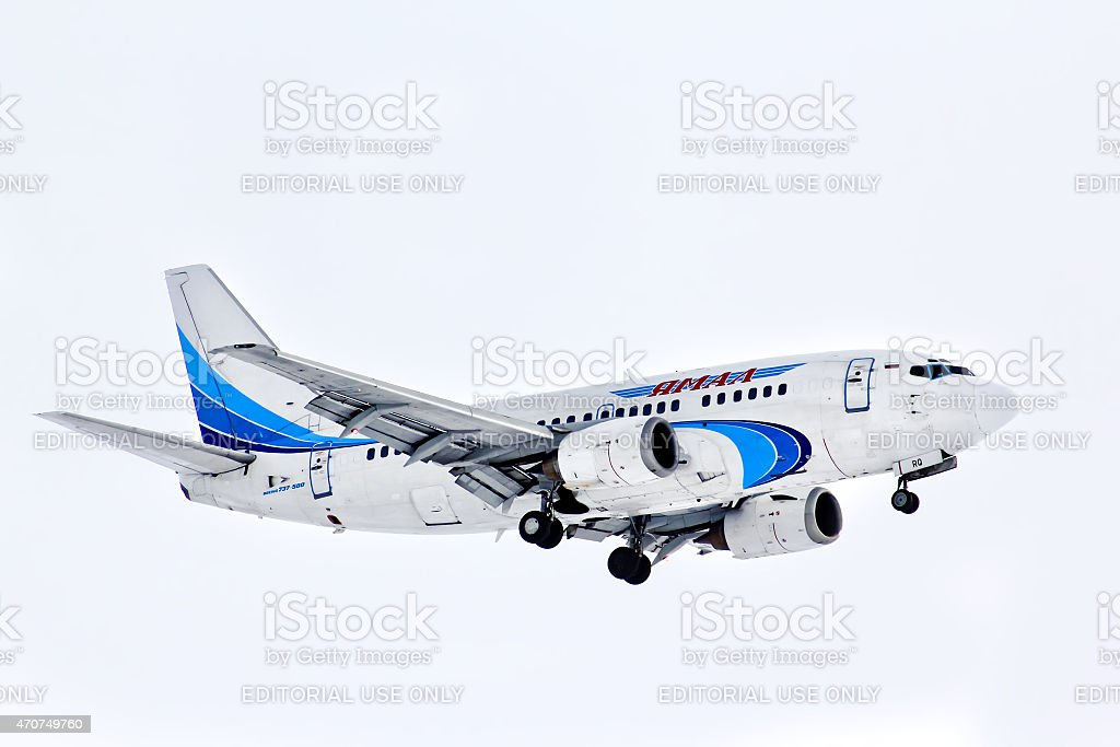 Yamal Airlines Boeing 737 stock photo