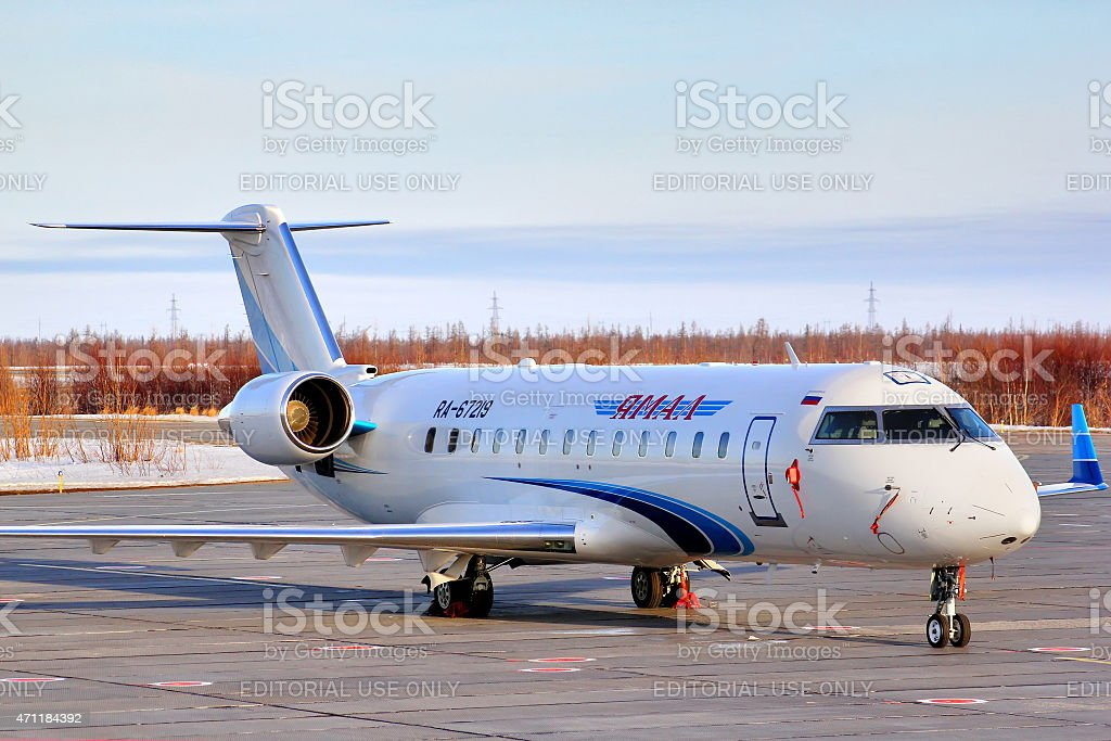 Yamal Airlines Canadair Challenger 850 stock photo