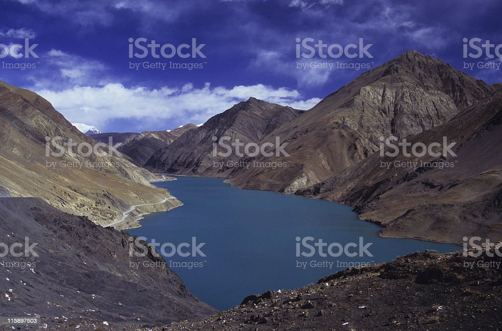 Yamdrok-Tso Lake, Tibet stock photo