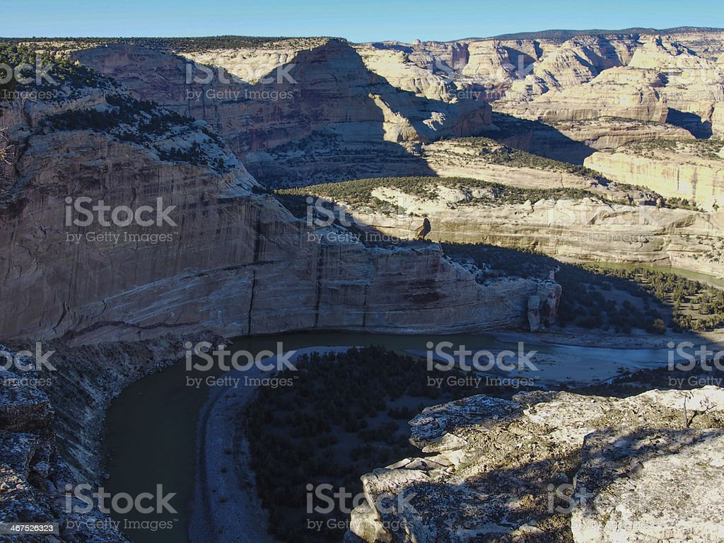 Yampa River Canyon in Dinosaur National Monument stock photo