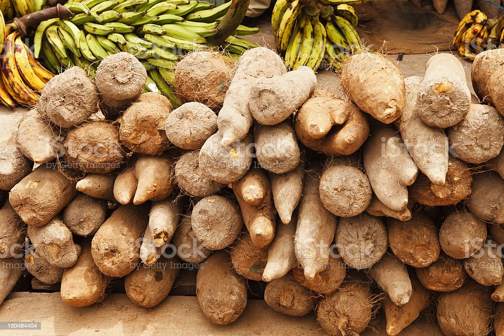Yams and Plantains royalty-free stock photo
