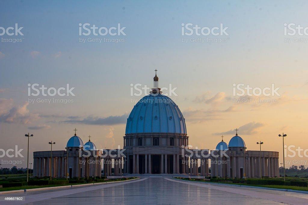 Yamssoukro Cathedral stock photo