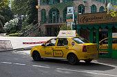 Yandex taxi on the street Voykova in city of Sochi