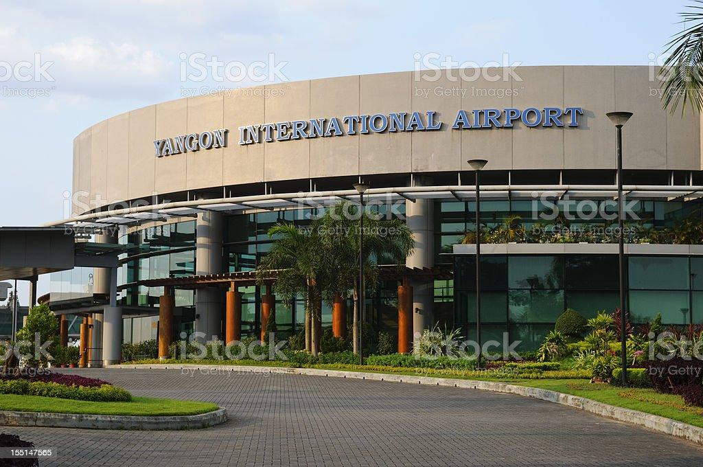 Yangon International Airport in Burma royalty-free stock photo