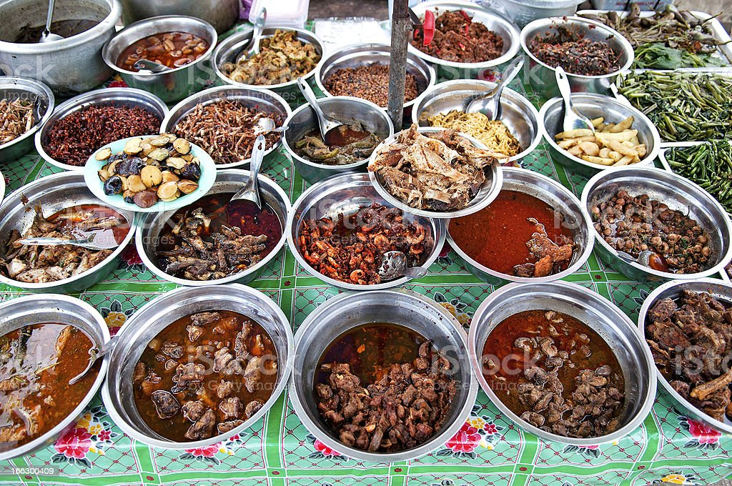 Yangon Myanmar Burma cuisine food stock photo