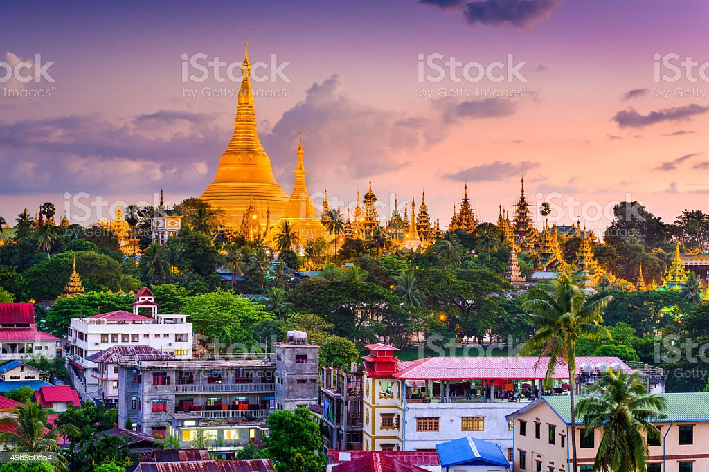 Yangon Skyline stock photo