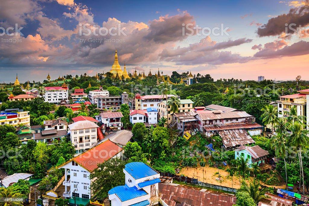 Yangon Skyline stock photo